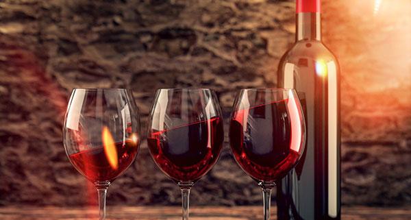 botellas vino analisis alimentos