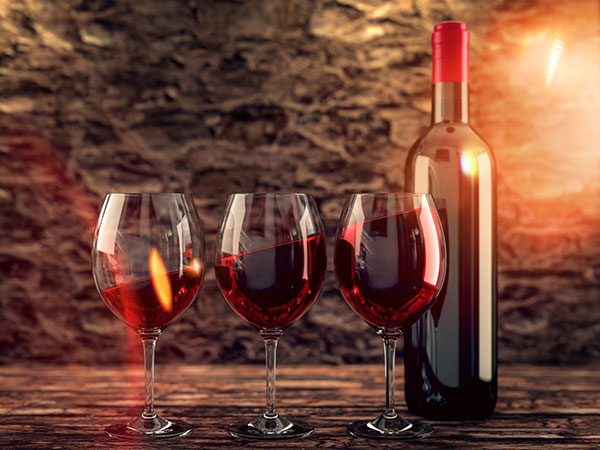 botellas vino analisis alimentos