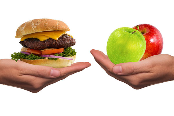 hamburguesa fruta seguridad alimentaria